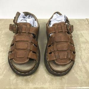 Dr. Doc Martens Brown Leather Fishermen Sandals